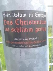 Kein Islam in Europa (50x Propaganda Sticker)