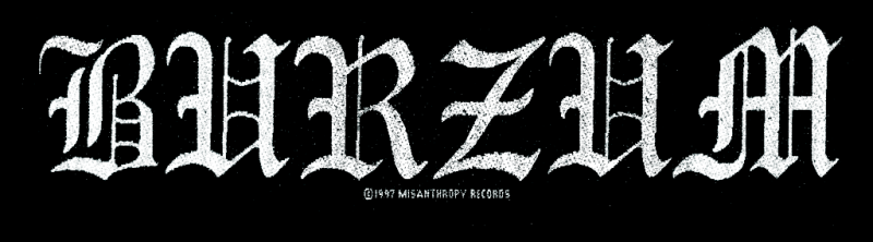 Burzum - Silver Logo (Superstrip - Patch)