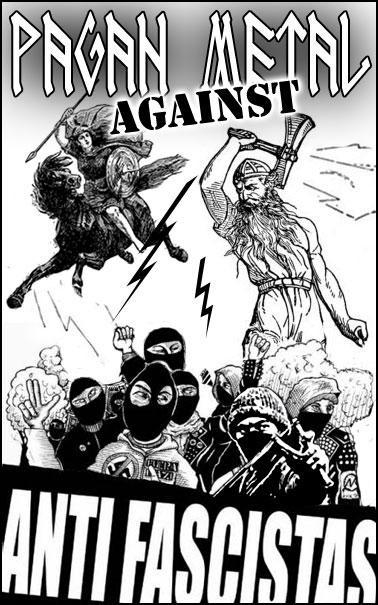Pagan Metal against Antifascistas (50x Propaganda Sticker)