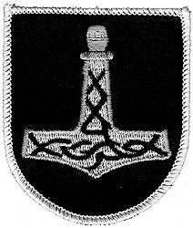 Thors Hammer Wappen  (Aufnäher)