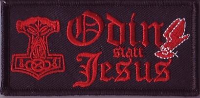 ODIN STATT JESUS rot (Patch)