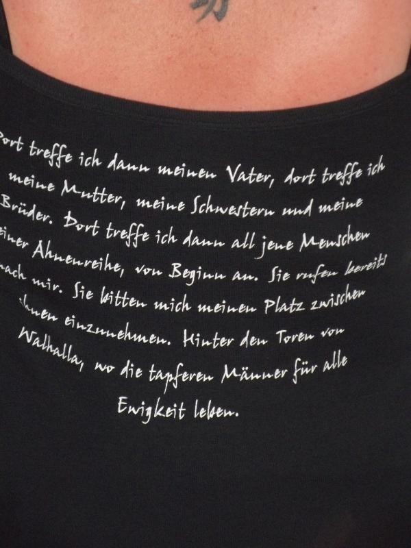 Odin statt Jesus - Dort treffe ich (Girly T-Hemd