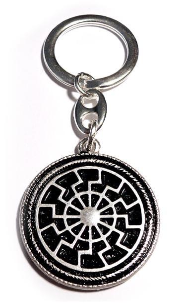Black Sun Keychain