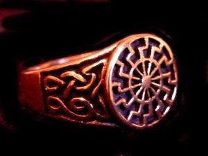 Siegelring Schwarze Sonne - Bronze