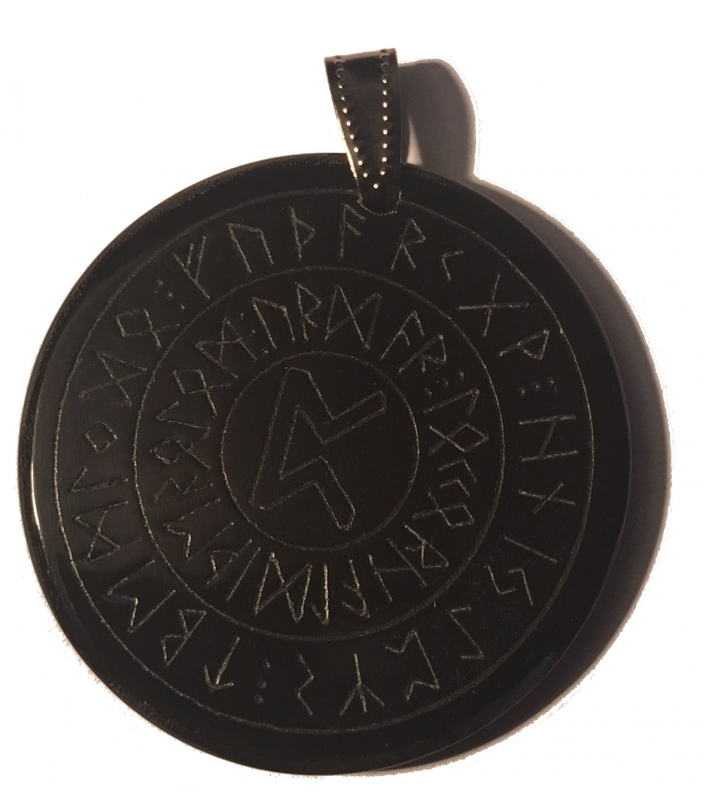 Happiness rune 2 (Pendant from Horn)