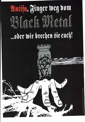 Antifa, Finger weg vom Black Metal ! (Sticker)