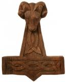 Thors Hammer Widder klein Antik (Holz, Handgeschnitzt)