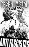 Pagan Metal against Antifascistas (50x Propaganda Aufkleber)