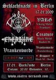 Plakat - Berliner Schlachtnacht (mit VARG, Creature, Vrankenvord