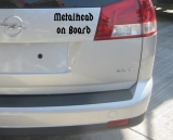 Metalhead on Board (Car Sticker)