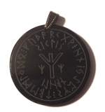 Protect seal Algiz (Pendant from Horn)