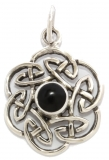 Nuada - Celtic Knot Onyx (Pendant in silver)
