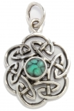 Nuada - Celtic Knot Turquoise (Pendant in silver)