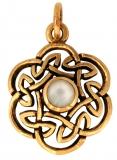 Nuada - Celtic knot pearl (Pendant in Bronze)