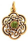 Nuada - Celtic Knot Turquoise (Pendant in Bronze)