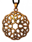 Amena - Celtic Hearts (Pendant in Bronze)