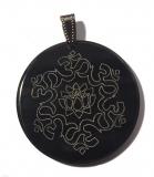 Om Lotus (Pendant from Horn)