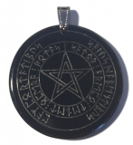 Magical Witches amulet with runic (Pendant from Horn)