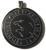 Odins Ravens 1 - Hugin and Munin (Pendant from Horn)