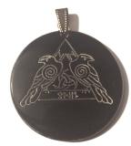 Odins Ravens 2 - Hugin and Munin (Pendant from Horn)