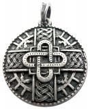 Merovingian amulet (Pendant in antiqued silver)