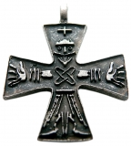 Odins Cross (Pendant in antiqued silver)