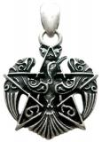 Pentagram (Pendant in antiqued silver)