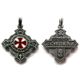 Knights Templar (Pendant in antiqued silver)