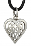 Amina - Celtic Heart (Pendant in silver)