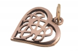 Amina - Celtic Heart (Pendant in Bronze)