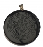 Celtic Cross - (necklace pendant from horn)