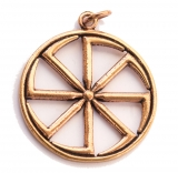 Kolovrat - Big Wheel of Fortune (Pendant in Bronze)
