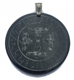 Mjolnir in the runes-circle (Pendant from horn)