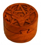 Deer & Pentagram (wooden jewelery box)