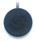 Celtic snake in the run-down circle (Pendant from horn)