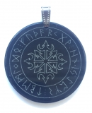Chaos star with runes (Pendant from horn)