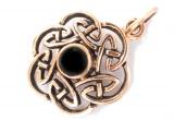 Nuada - Celtic Knot - Onyx (Pendant in Bronze)