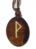 Wunjo Rune - Pendant of Bone (Brown)