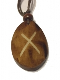 Gebo Rune - Pendant of Bone (Brown)