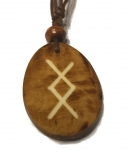 Ingwuz Rune - Pendant of Bone (Brown)