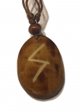 Sowilo Rune - Pendant of Bone (Brown)
