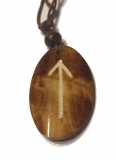 Tiwaz Rune - Pendant of Bone (Brown)