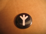 Lebensrune / Algiz (Button)
