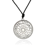 Black Sun in the Rune Circle (Pendant in Silver)