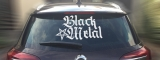 Black Metal + Pentagram [high] Rear Window Sticker