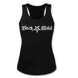 Black Metal + Pentagram [long] Girly Tank-Top-Shirt