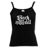 Black Metal + Pentagram [high] Girly Spaghetti-Strap-Shirt