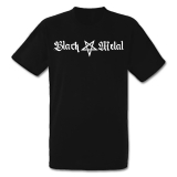 Black Metal + Pentagram [lang] T-Shirt