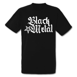 Black Metal + Pentagram [hoch] T-Shirt