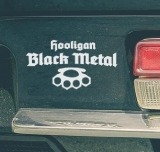 Hooligan Black Metal Car Sticker